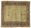 Rugs & Textiles:Carpets, An Antique Bakashayesh Carpet. Iran. Circa 1870. Silk, wool. 13feet x 14 feet. ...