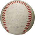 Autographs:Baseballs, 1972 New York Yankees Team Signed Baseball. After a lengthy absencefrom the club's historic position at the top of the bas...