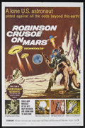 "Movie Posters:Science Fiction, Robinson Crusoe On Mars (Paramount, 1964). One Sheet (27"" X 41"").Science Fiction. Directed by Byron Haskin. Starring Paul M..."