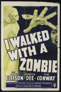 """Movie Posters:Horror, I Walked With a Zombie (RKO, R-1952). One Sheet (27"""" X 41""""). Val Lewton Horror. Starring James Ellison, Frances Dee and Tom ..."""