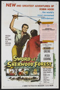 "Movie Posters:Adventure, Sword of Sherwood Forest (Columbia, 1960). One Sheet (27"" X 41"").Adventure. Starring Richard Greene, Peter Cushing, Niall M..."