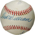 Autographs:Baseballs, 1980's Ted Williams, Joe DiMaggio & Mickey Mantle SignedBaseball. With the hobby drowning in an ocean of forgeriesrelatin...