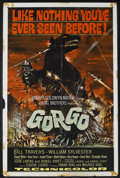 "Movie Posters:Science Fiction, Gorgo (MGM, 1961). One Sheet (27"" X 41""). Sci-Fi Horror. StarringBill Travers, William Sylvester, Vincent Winter, Bruce Set..."