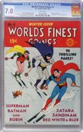 Golden Age (1938-1955):Superhero, World's Finest Comics #4 (DC, 1941) CGC FN/VF 7.0 White pages....