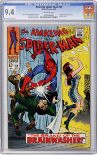 The Amazing Spider-Man #59 (Marvel, 1968) CGC NM 9.4 Off-white pages