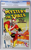 Silver Age (1956-1969):Science Fiction, Mystery in Space #59 (DC, 1960) CGC VF 8.0 Off-white to whitepages....