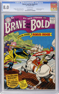 Silver Age (1956-1969):Adventure, The Brave and the Bold #11 (DC, 1957) CGC VF 8.0 Off-white pages....