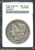1893-S $1--Cleaned--ANACS. Fine Details, Net VG8. Very bright from cleaning with deep charcoal coloration around and wit...