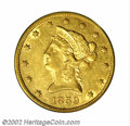 Liberty Eagles: , 1859-S $10 AU53 PCGS. An immensely important coin for the ...