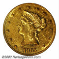Liberty Eagles: , 1865 $10 AU53 PCGS. The 1865 is an impressively scarce ...