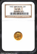 Commemorative Gold: , 1903 $1 Louisiana Purchase/McKinley MS63 NGC. An ...