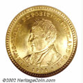 Commemorative Gold: , 1904 $1 Lewis and Clark MS64 NGC. Shimmering green-gold ...