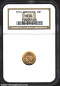 Commemorative Gold: , 1916 $1 McKinley MS64 NGC. An attractive, bright ...