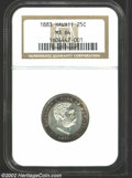 Coins of Hawaii: , 1883 25C Hawaii Quarter MS64 NGC. The obverse periphery ...