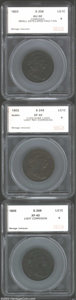 Additional Certified Coins: , 1803 1C Small Date, Large Fraction Cent AU50 Corroded SEGS (...