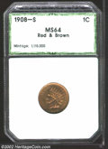 Additional Certified Coins: , 1908-S 1C Cent MS64 Red and Brown PCI. Mostly lustrous, ...