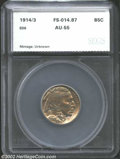 Additional Certified Coins: , 1914/3 5C Nickel AU55 SEGS (AU55 Cleaned). FS-014.87. ...