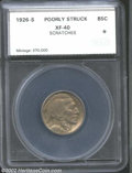 Additional Certified Coins: , 1926-S 5C Nickel XF40 Poorly Struck, Scratches SEGS (VF20 ...