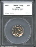 Additional Certified Coins: , 1936 5C Nickel MS66 SEGS (MS65). DDO-1. FS-018.7. PUP: ...