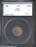 Additional Certified Coins: , 1796 10C Dime Fine 15 Cleaned SEGS (Fine 15 Holed, Plugged, ...