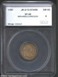 Additional Certified Coins: , 1797 10C 13 Stars Dime XF40 Repaired, Corroded SEGS (XF40 ...