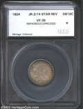 Additional Certified Coins: , 1804 10C 14 Stars on Reverse Dime VF35 Repaired, Corroded ...