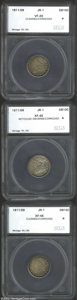 Additional Certified Coins: , 1811/9 10C Dime VF20 Cleaned, Corroded SEGS (VF20 Corroded, ...