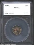 Additional Certified Coins: , 1897-S 10C Dime MS63 SEGS (MS62 Retoned). The borders ...