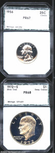 Additional Certified Coins: , 1956 25C Quarter PR67 PCI (PR67), brilliant and seemingly ...