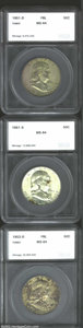 Additional Certified Coins: , 1951-D 50C Half Dollar MS64 Full Bell Lines Toned SEGS (...