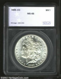 Additional Certified Coins: , 1885-CC $1 Silver Dollar MS65 SEGS (MS64). The second 8 ...