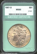 Additional Certified Coins: , 1887-O $1 Silver Dollar MS65 Numistrust Corporation (MS64)....