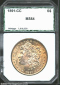 Additional Certified Coins: , 1891-CC $1 Silver Dollar MS64 PCI (MS63). There is a ...