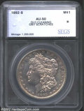 Additional Certified Coins: , 1892-S $1 Silver Dollar AU50 Old Cleaning, Obverse ...