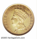 Additional Certified Coins: , 1854-D $3 Three Dollar Gold XF45 Rim Mounts Removed, ...