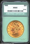 Additional Certified Coins: , 1900 $20 Double Eagle MS65 Numistrust Corporation (MS64). ...