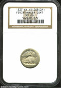 1837 Feuchtwanger Cent MS66 NGC. HT-268(2A), R.5. A prooflike Gem, glistening reflectivity is seen in the fields. The si...