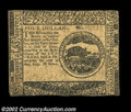 Continental Currency May 10, 1775 $4 Extremely Fine. The signatures and serial number have faded and are just barely vis...
