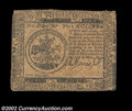 Colonial Notes:Continental Congress Issues, Continental Currency May 10, 1775 $5 Very Fine. A solid, ...