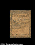 Colonial Notes:Continental Congress Issues, Continental Currency February 17, 1776. Three Fractional ...