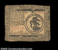 Colonial Notes:Continental Congress Issues, Continental Currency February 17, 1776 $3 Very Fine. A ...
