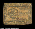 Colonial Notes:Continental Congress Issues, Continental Currency February 17, 1776 $5 Very Fine. This ...