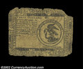 Colonial Notes:Continental Congress Issues, Continental Currency July 22, 1776 $3 Fine. The edges are ...