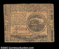 Colonial Notes:Continental Congress Issues, Continental Currency July 22, 1776 $4 Extremely Fine. Well ...