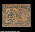 Colonial Notes:Continental Congress Issues, Continental Currency July 22, 1776 $5 Fine-Very Fine. A ...