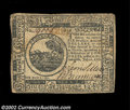 Colonial Notes:Continental Congress Issues, Continental Currency July 22, 1776 $6 Very Fine. A perfect ...