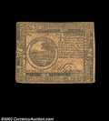 Colonial Notes:Continental Congress Issues, Continental Currency November 2, 1776 $6 Very Fine. Well ...