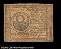 Colonial Notes:Continental Congress Issues, Continental Currency November 2, 1776 $30 Very Fine. This ...