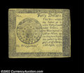 Colonial Notes:Continental Congress Issues, Continental Currency April 11, 1778 $40 Choice New. A ...