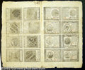 Colonial Notes:Continental Congress Issues, Continental Currency September 26, 1778 Full Sheet of 16. ...